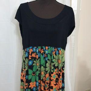 Dress NWT Black/multicolored bottom, Apt 9